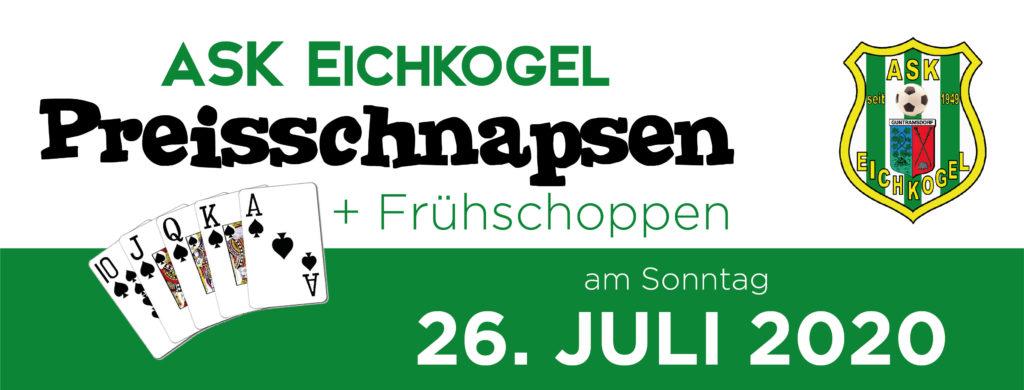 Preisschnapsen + Frühschoppen am 26. Juli 2020 – Endergebnis