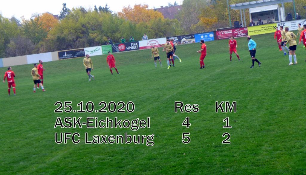 1:2 Derbyniederlage gegen Laxenburg. Res (4:5)