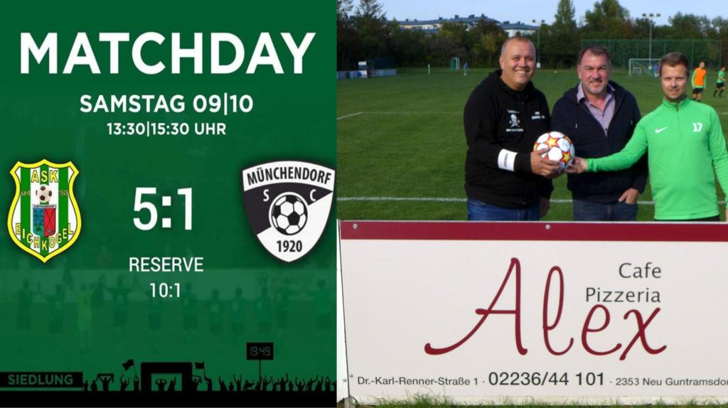09.10.2021:  6  Punkte gegen Münchendorf Res 10:1 KM 5:1